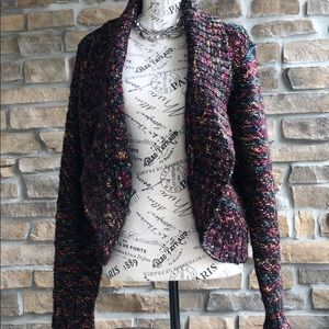 Chico's chunky multi color knit cardigan sweater